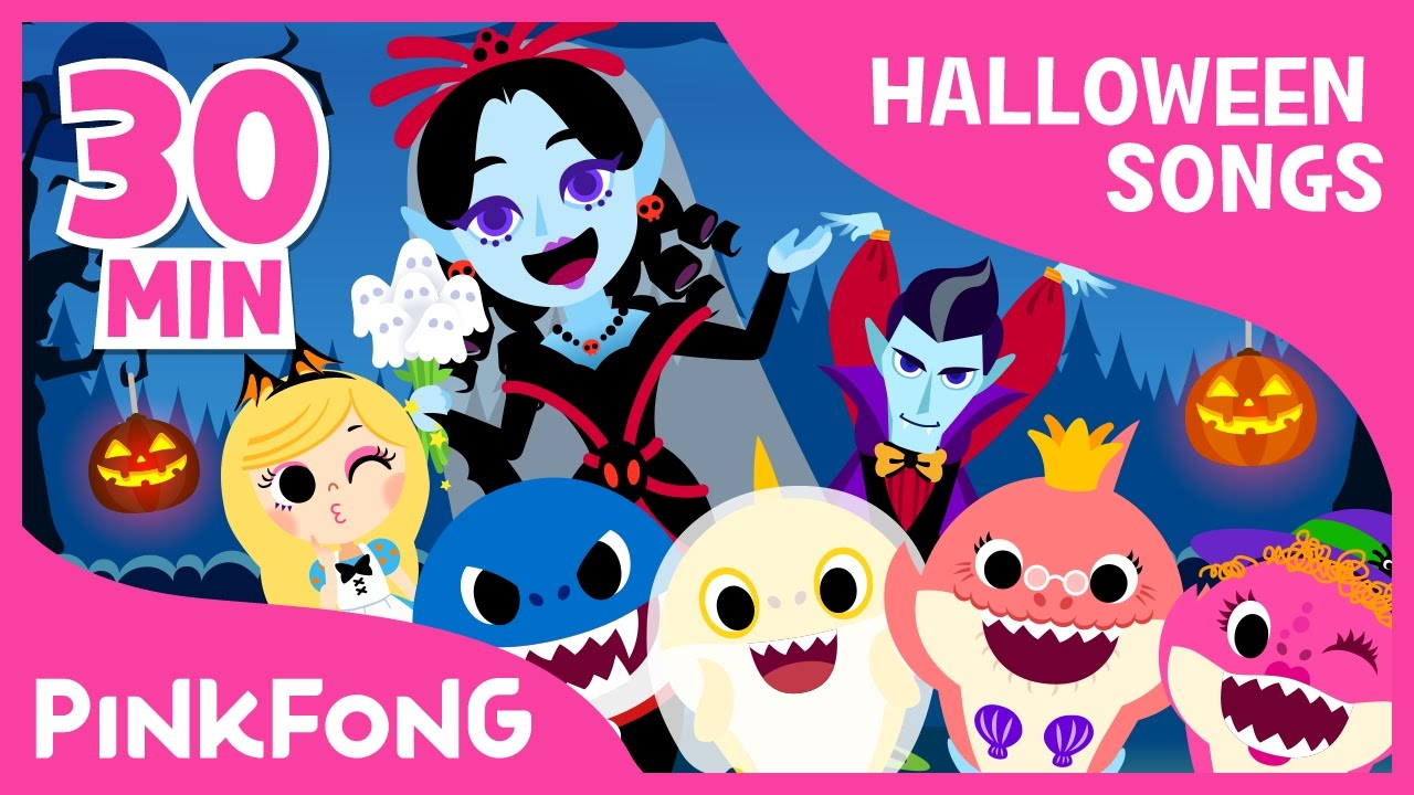 the best songs of halloween compilation pinkfong songs for children youtube
