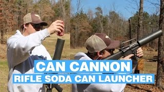 Download Lagu Can Cannon: Rifle Attachment That Shoots Soda Cans Over 100 Yards mp3