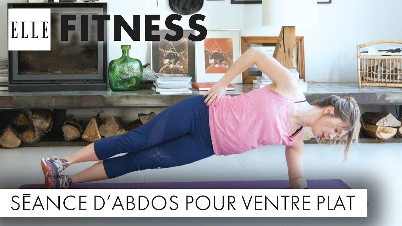 15 Minutes D Abdos Pour Un Ventre Plat Elle Fitness Youtube