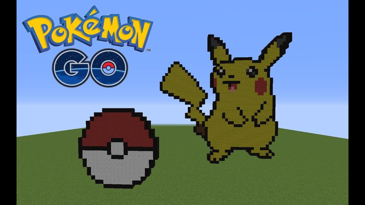 Minecraft Pixel Art Pokemon Pikachu