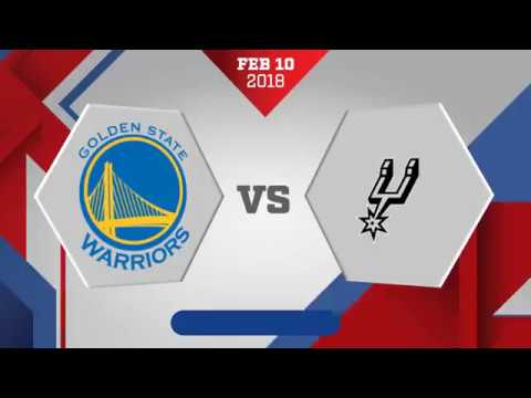 San Antonio Spurs vs. Golden State Warriors - February 10, 2018