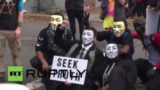 USA: Anonymous mount Million Mask March on Washington D.C.