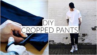 *EASY* DIY CROPPED PANTS TUTORIAL | Men's Fashion | Daniel Simmons