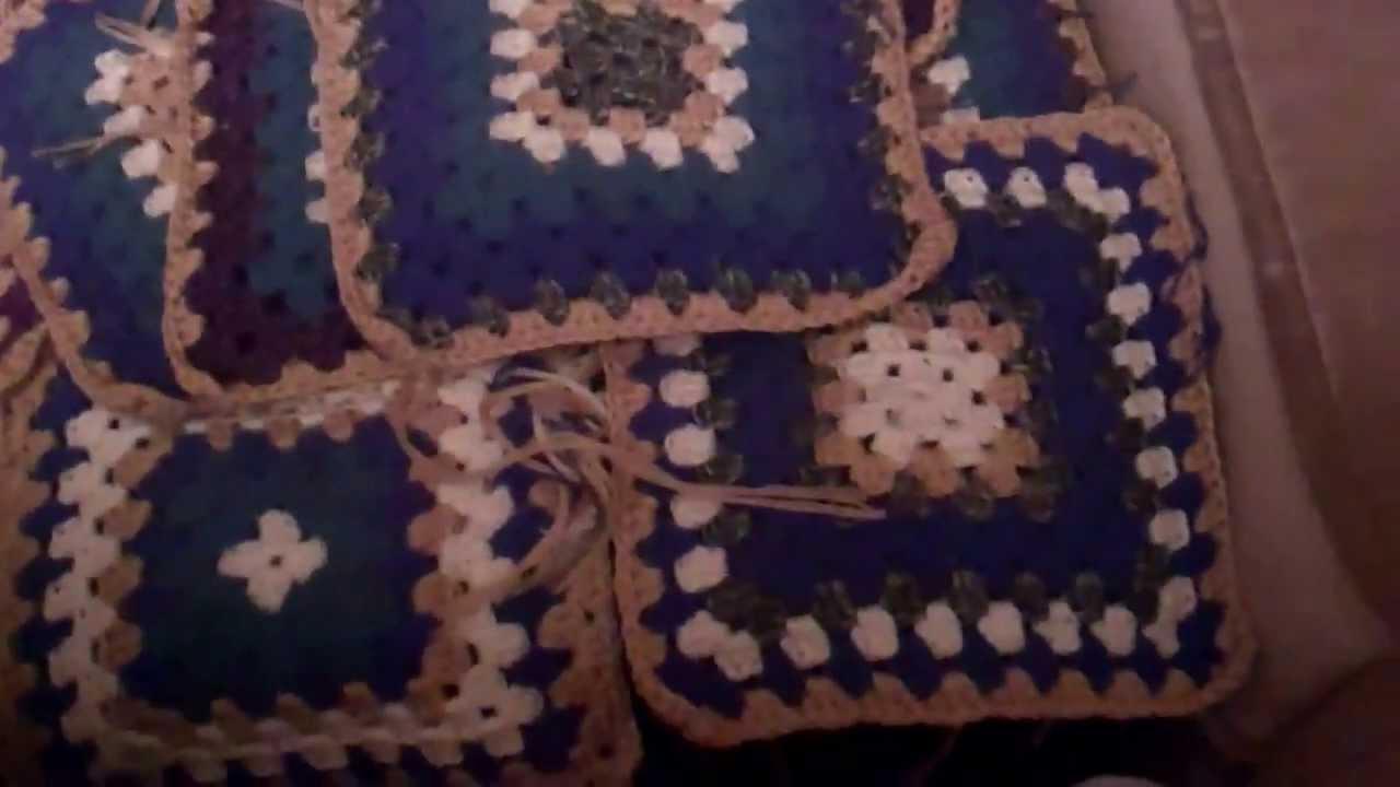 Afghan - große Decke aus Granny Squares - HaekelnundStricken - YouTube