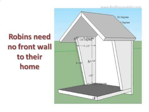 robin bird house plan - YouTube