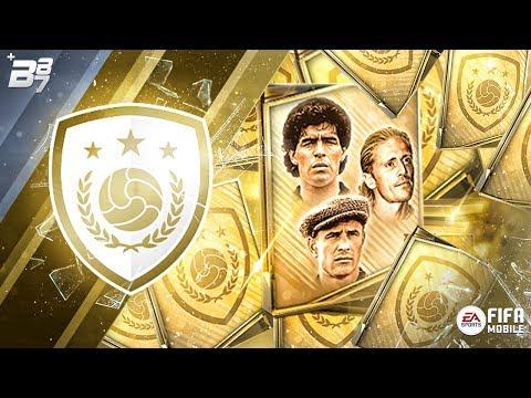 6 ICON BUNDLES OPENED! MARADONA, PETIT AND YASHIN UNLOCKED!   FIFA MOBILE