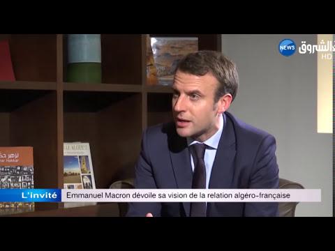 Emmanuel  Macron parle de la relation algéro-française