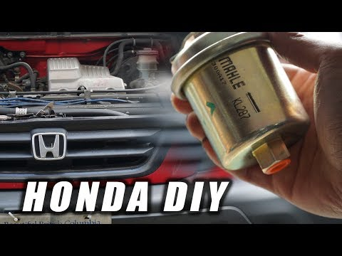 HOW TO: HONDA CRV FUEL FILTER REPLACEMENT
