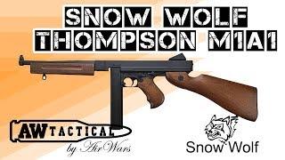 Страйкбольный пистолет пулемет  SNOW WOLF THOMPSON M1A1 (AW6605)