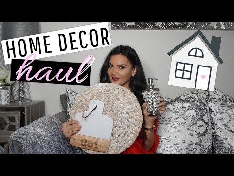 AFFORDABLE HOME DECOR HAUL! MODERN GLAM HOME DECOR! 2018
