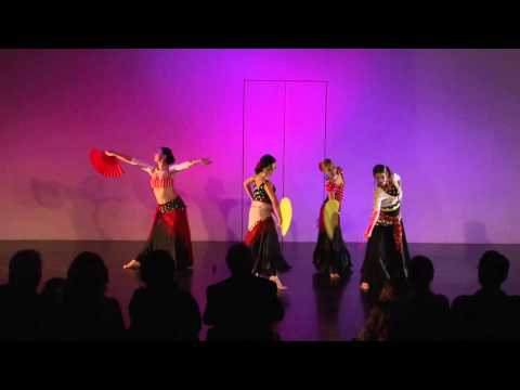 """Fans"" of Flamenco....Song by Dalida....Choreography by Jenna ( http://www.BeyondBellydance.com )"