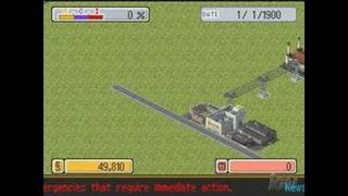 SimCity DS Nintendo DS Gameplay - Building Railways