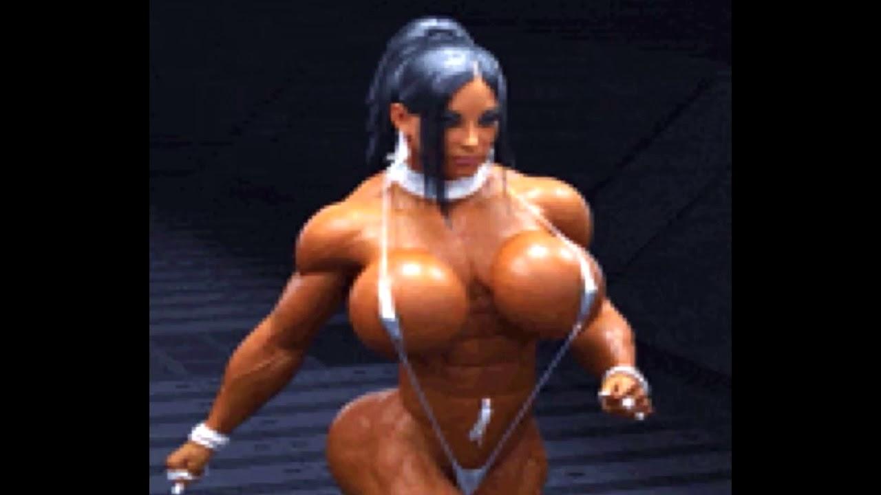 Female bodybuilder huge clit