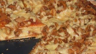 Пицца с грибами. Рецепт
