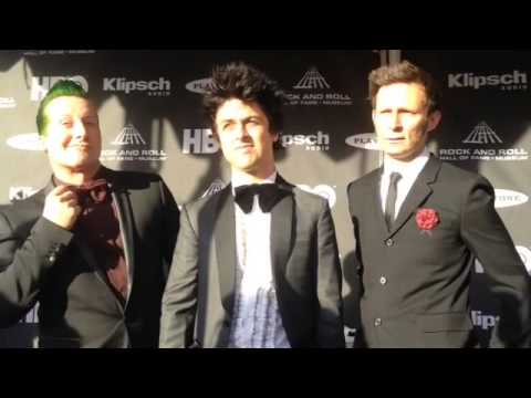 Green Day arrives at 2015 Rock Hall Induction Ceremony