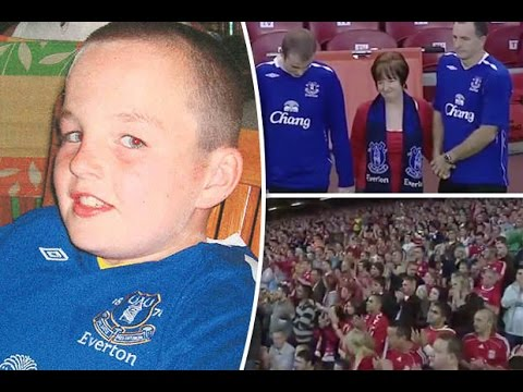 Little Boy Blue: Emotional clip shows LIVERPOOL fans pay tribute to Evertonian Rhys Jones
