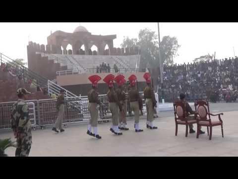 Hussainiwala Border Retreat Parade Between India and Pakistan