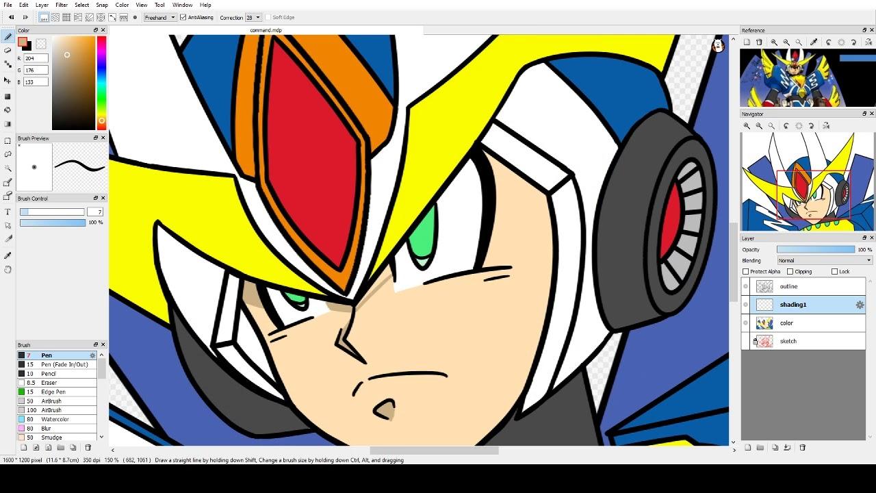 Fire Alpaca - Speed Drawing ~ Armored Mega Man X