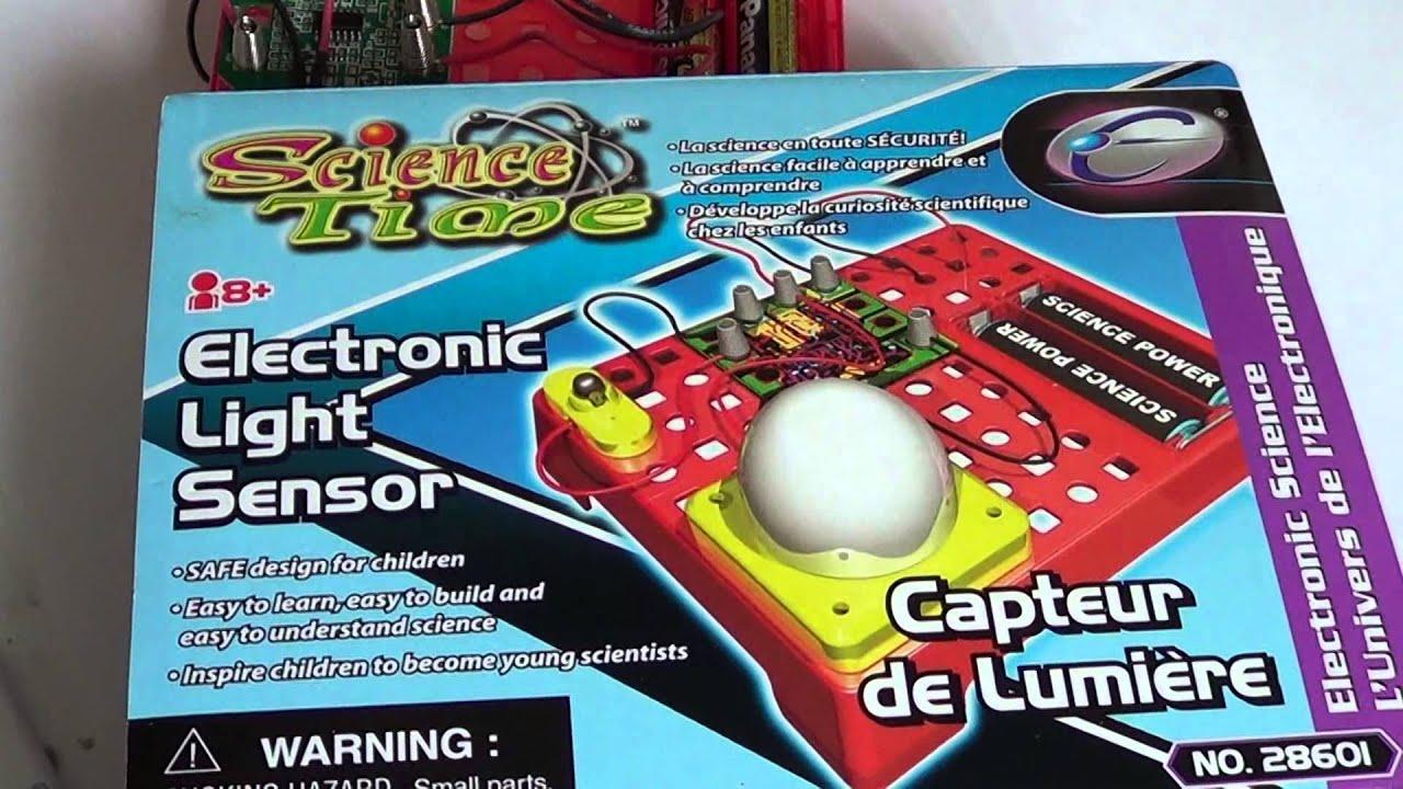 Science Time Electronic light sensor kit to build - YouTube
