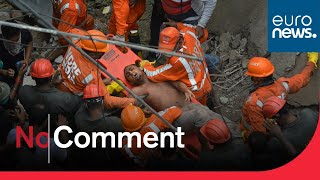 At least 10 dead as residential building collapses in India