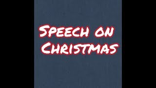 Christmas Speech for kids in English