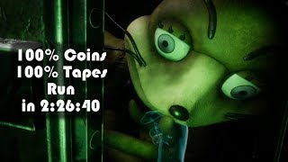 100% Coins and Tapes Run in 2:26:40 w/ Timestamps - Five Nights at Freddy's VR: Help Wanted [4K/60]