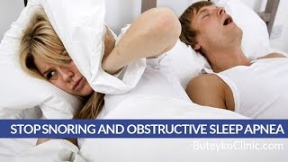 Stop Snoring and Obstructive Sleep Apnea