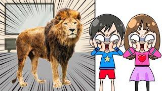 テレビから動物が逃げ出した! こうくんねみちゃんアニメ Really want to have pets Animals jump out of the TV