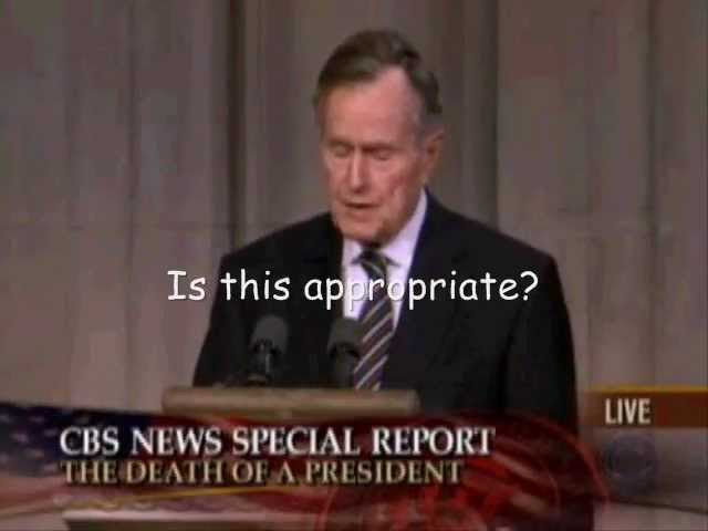 Bush laughing about Kennedy assassination