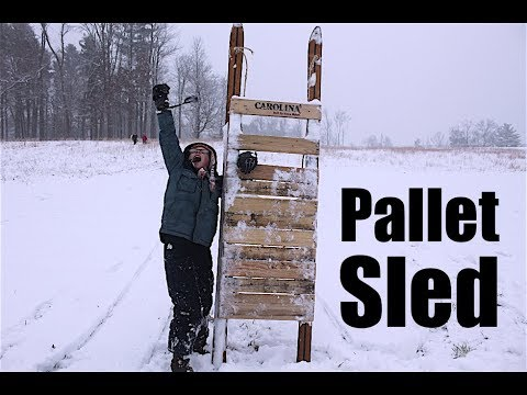 7 Year Old Makes a Pallet Wood Sled
