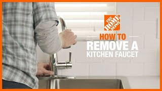 how to remove a kitchen faucet the