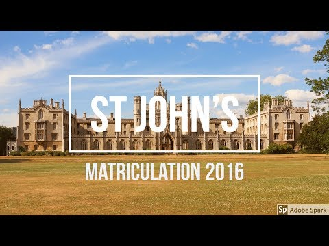 St John's College Matriculation 2016 / Cambridge University Matriculation