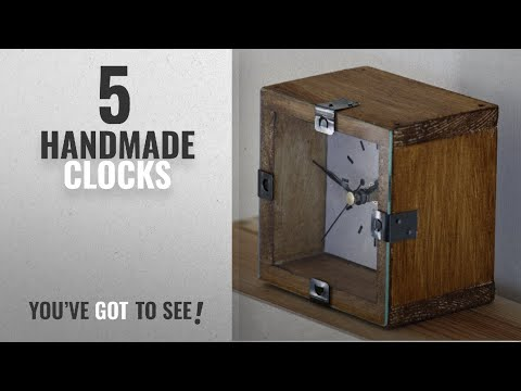 Top 10 Handmade Clocks [2018]: NEW 10cm Rustic Wooden Mantel Clock - Country Natural Vintage Desk