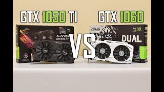ASUS Strix GTX 1050 TI 4GB OC  vs  GTX 1060 Dual 6GB OC  (Benchmarks base & OC)