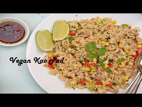 Vegan Thai Fried Rice Recipe (Kao Pad)[veg]