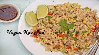 Vegan Thai Fried Rice Recipe (Kao Pad)[veg]