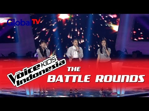 "Sosila vs Monica vs Sandra ""Gravity"" I The Battle Rounds I The Voice Kids Indonesia 2016"