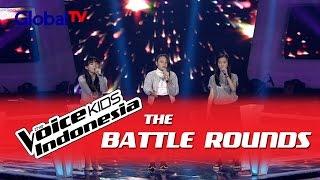 """Sosila vs Monica vs Sandra """"Gravity"""" I The Battle Rounds I The Voice Kids Indonesia 2016"""
