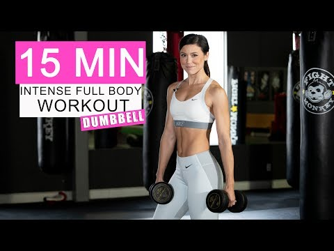 15 Minute Dumbbell Workout. Lose weight FAST from home.