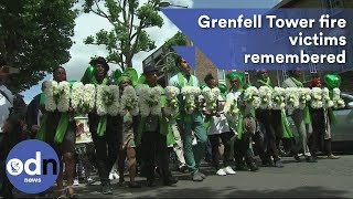 Victims of Grenfell Tower fire remembered one year on