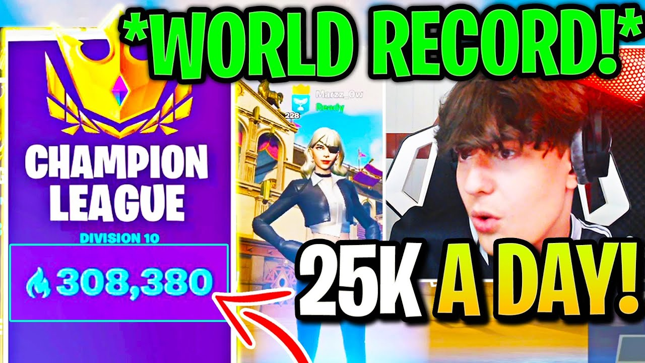 300,000 Arena Point Player *SHOCKED* ENTIRE Fortnite COMMUNITY with WORLD RECORD!