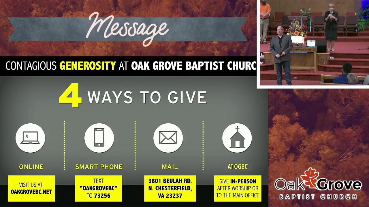 Sunday Morning Worship at OGBC (September 26, 2021)