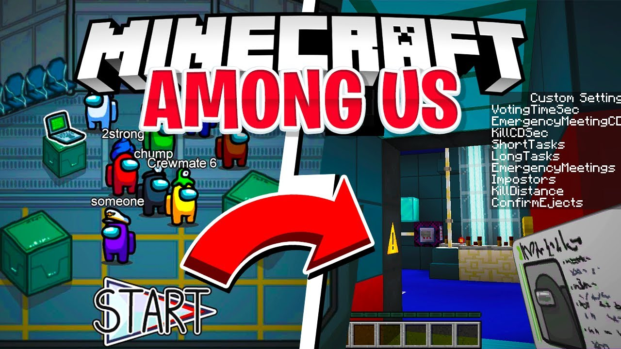Among Us Minecraft Custom Texture Pack Map Download Free Among Us Youtube