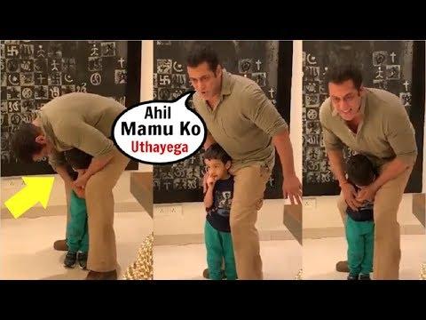 Salman Khan CUTE Video Making Fun Of Nephew Ahil Sharma Mp3