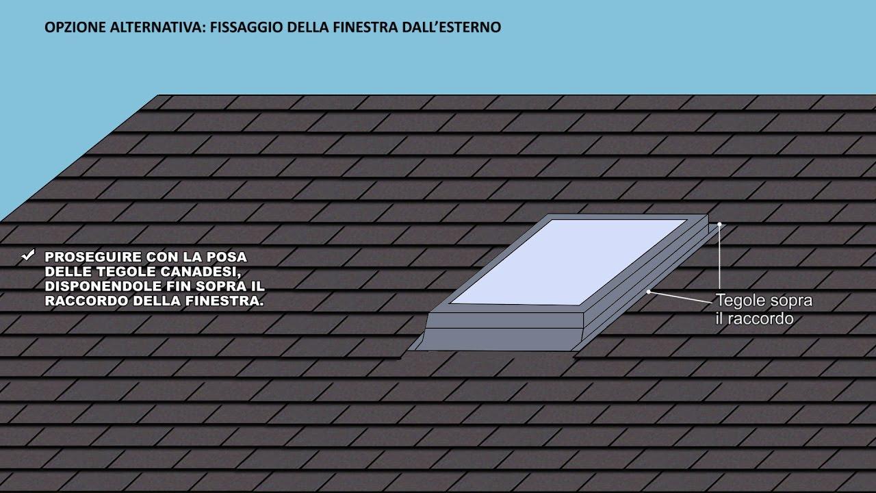 Come installare finestre per tetti con tegole canadesi for Finestre x tetti