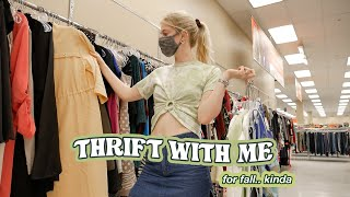 a chill thrift with me for fall… during a heat wave + a good thrift haul ✨