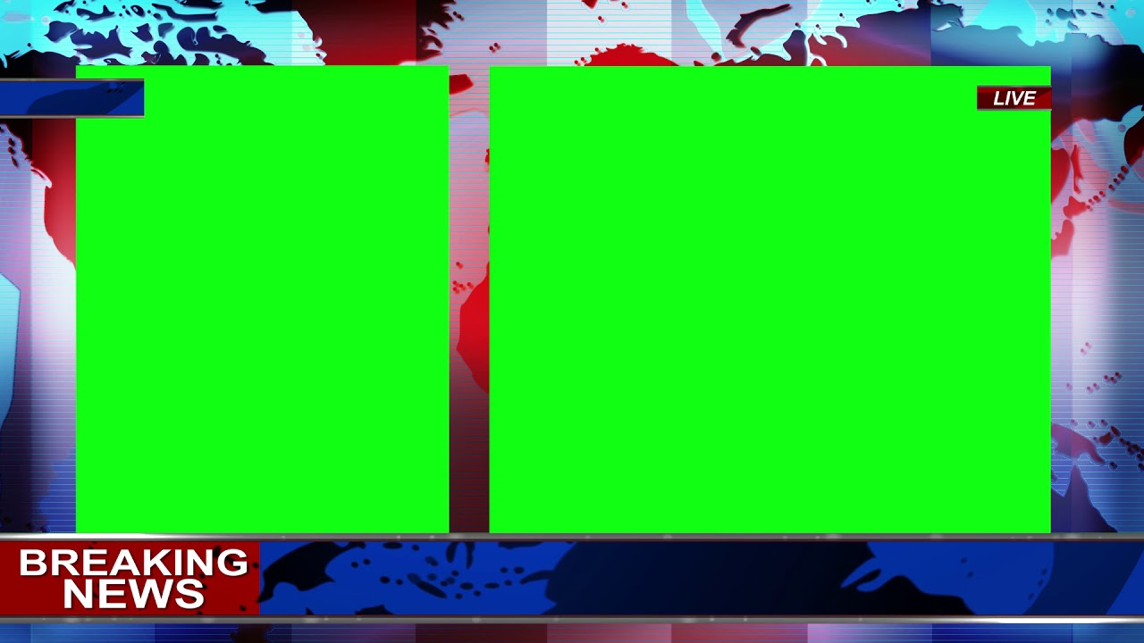 News Background Green Screen 1080p Royalty Free Youtube