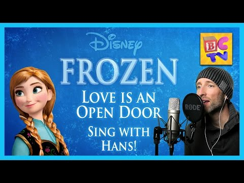 "Love is an Open Door Frozen Karaoke | Male Part Only ""Sing With Me"""