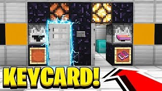 How to Make a KEY CARD SECURITY DOOR in Minecraft! (NO MODS!)