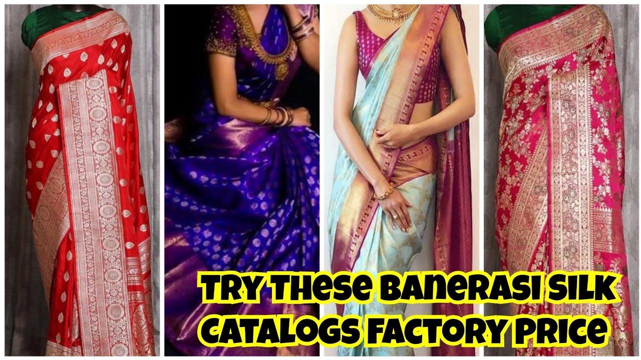 Silk Sarees | Banerasi Silk Kanchi weaving Silk Sarees Direct from Manufacture Set Catalog Low price